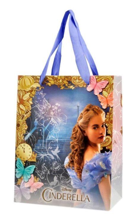 Basco in maglia a righe con bustina regalo Disney Cinderella
