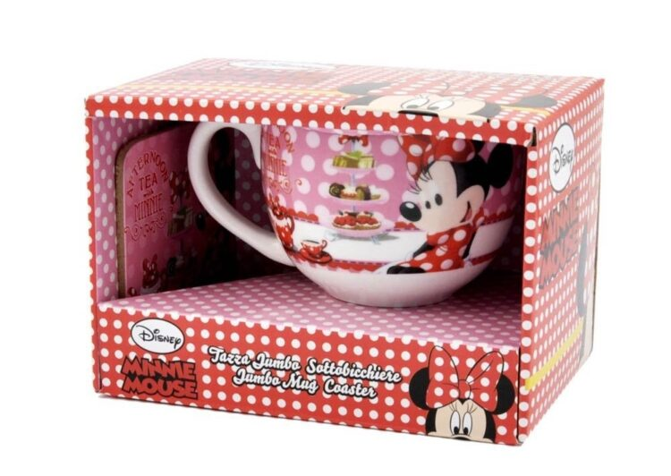 Set regalo tazza jumbo e sottotazza Minnie Disney