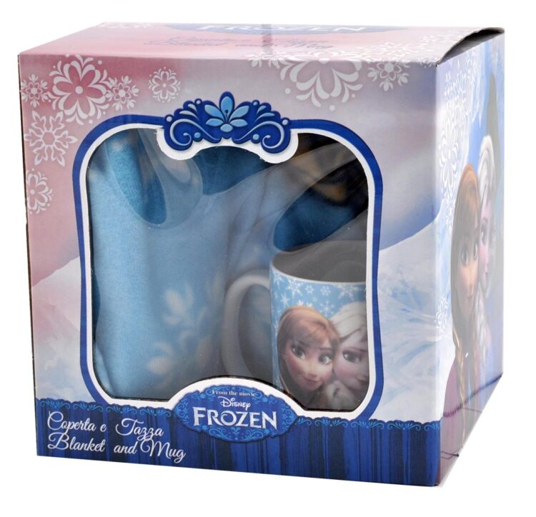 Disney Frozen Set regalo plaid e tazza mug