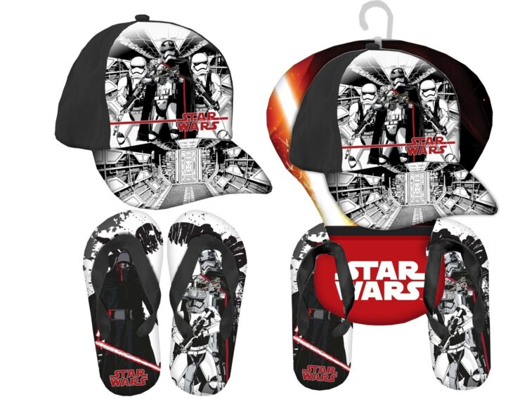 Set regalo cappellino e infradito Star Wars