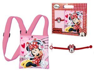Set regalo borsetta trasversale e bracciale Disney Minnie