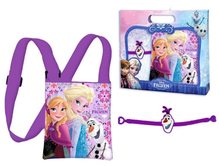 Set regalo borsetta trasversale e bracciale Disney Frozen