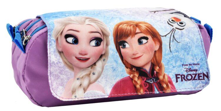 Astuccio 3 scomparti Disney Frozen Anna ed Elsa