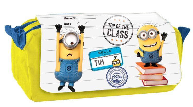 """Astuccio 3 scomparti Minions """"Top of the Class"""""""