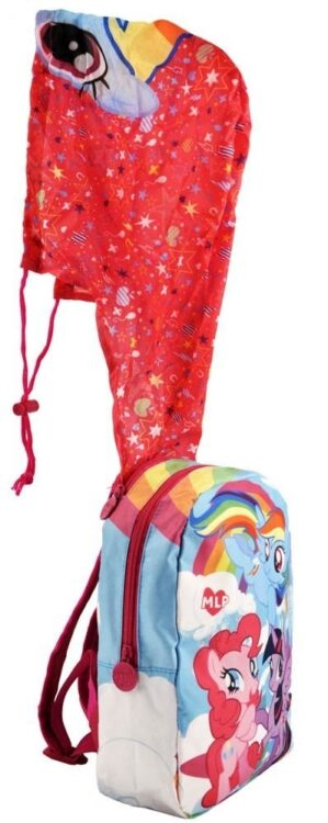 Zaino asilo My Little Pony con cappuccio impermeabile