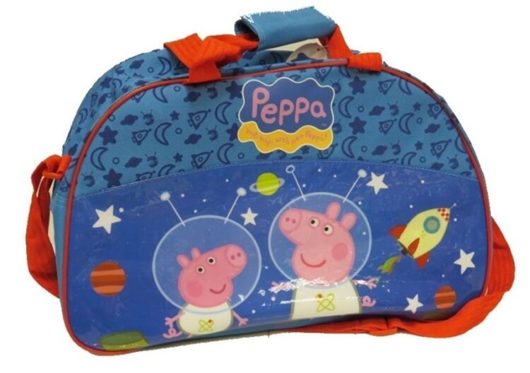 Borsone Sport Peppa Pig e George Space