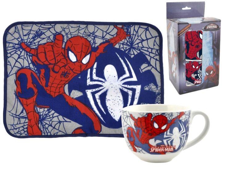 Set regalo tovaglietta più tazza Spiderman