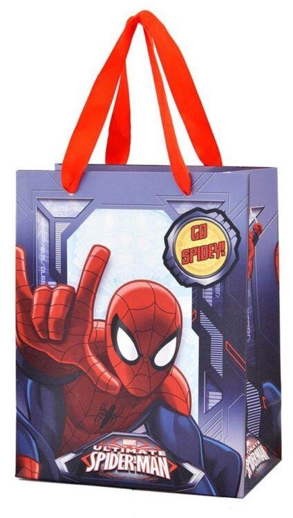 Berretto e sciarpa con bustina regalo Spiderman