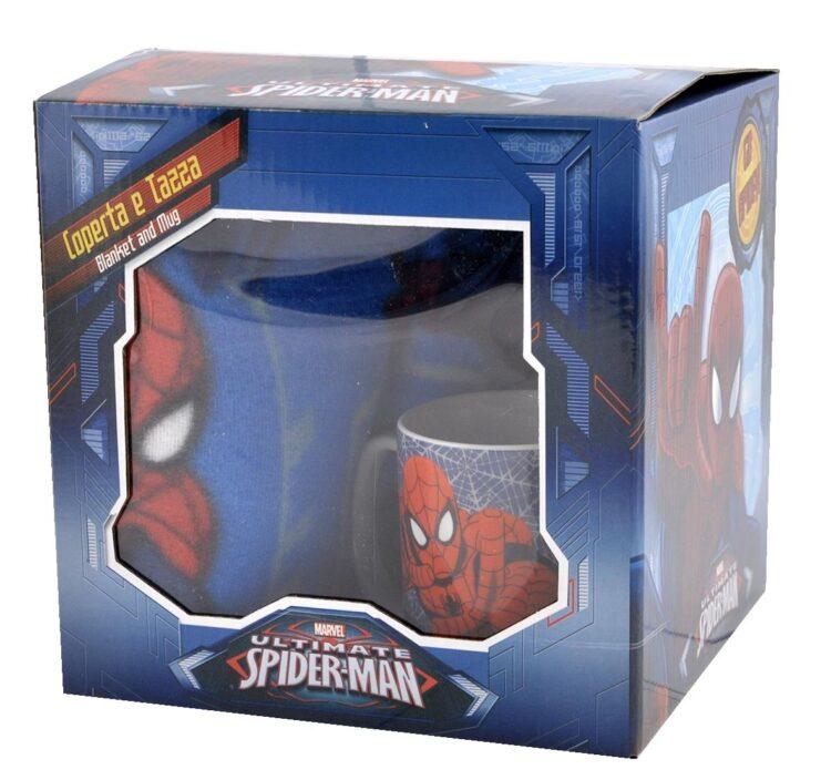 Spiderman Set regalo plaid e tazza mug