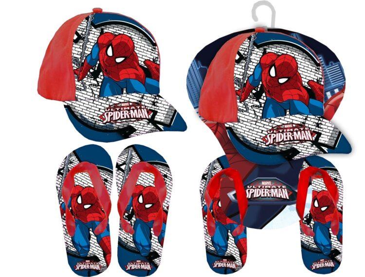Set regalo cappellino e infradito Spiderman