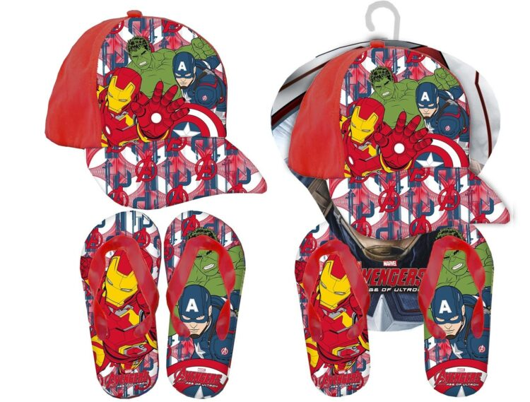 Set regalo cappellino e infradito Marvel Avengers