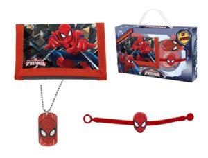 Set regalo portafogli collana e braccialetto Spiderman