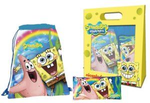 Set regalo sacca sport e astuccio Spongebob