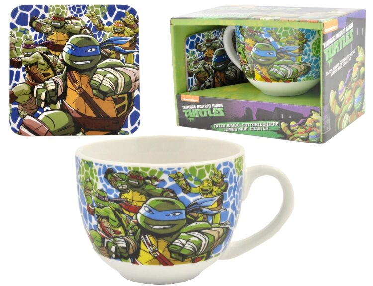 Set colazione tazza e sottotazza Ninja Turtles
