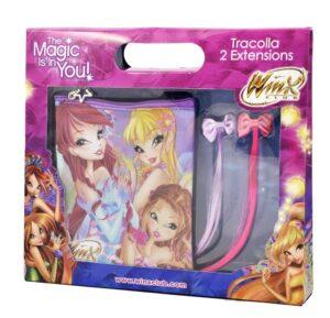 Set regalo borsetta + 2 clip con extension Winx