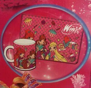 Set regalo tazza e tovaglietta cotone Winx