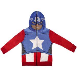 Felpa con cappuccio intero Avengers Capitan America