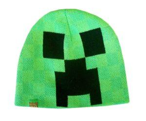 Berretto in maglia verde Minecraft Beenie Creeper