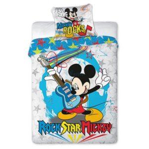 Parure copripiumino singolo Mickey Rocks 100% cotone