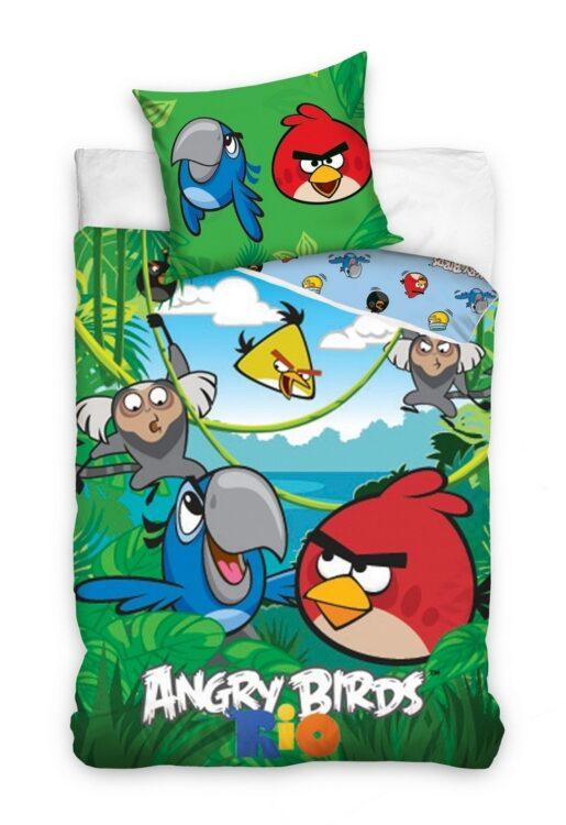 Parure copripiumino singolo Angry Birds Rio 100% cotone