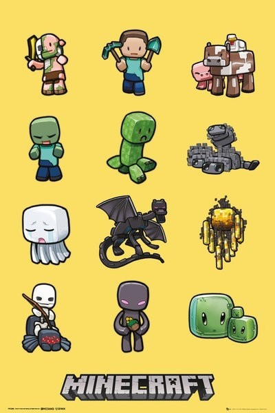 """Minecraft Maxi Poster """"Characters"""""""