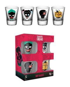Set bicchierini in vetro Suicide Squad