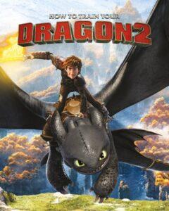 """Dragon Trainer Mini Poster """"Hiccup e Sdentato"""""""