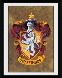 Harry Potter - Stampa con cornice da collezione Stemma Grifondoro