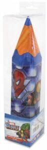 Matitone contenitore 24 pastelli Marvel Heroes