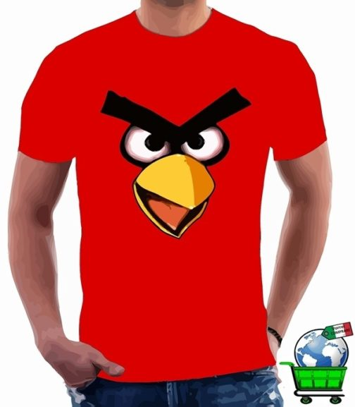 T-Shirt Angry Birds rossa