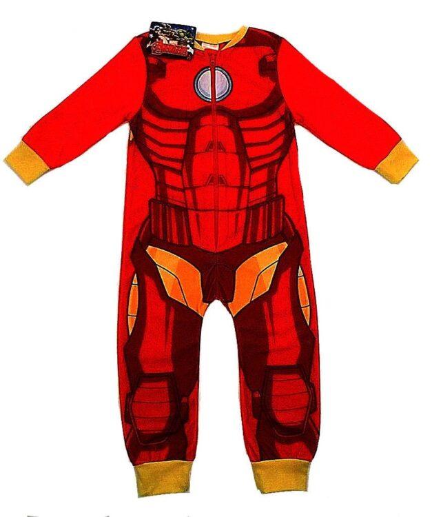 Pigiama intero in pile Iron Man