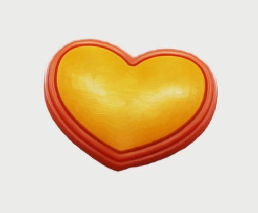 Pin per Crocs o braccialetti Orange Heart