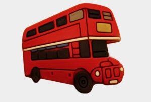 Pin per Crocs o braccialetti Bus a 2 piani