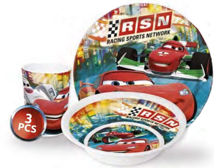 Set tavola melamina 3 pezzi Disney Cars