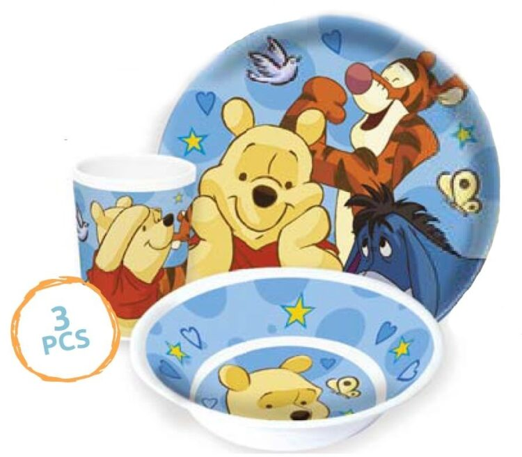 Set tavola melamina 3 pezzi Winnie The Pooh