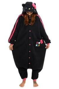 Pigiamone Kigurumi adulto Hello Kitty black - Taglia Unica