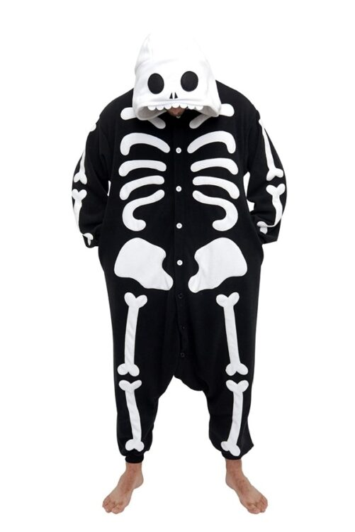 Pigiamone Kigurumi adulto Skeleton - Taglia Regular