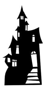 Small Haunted House (Silhouette) sagoma 98 cm H