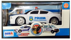 Auto della Polizia con luci e suoni