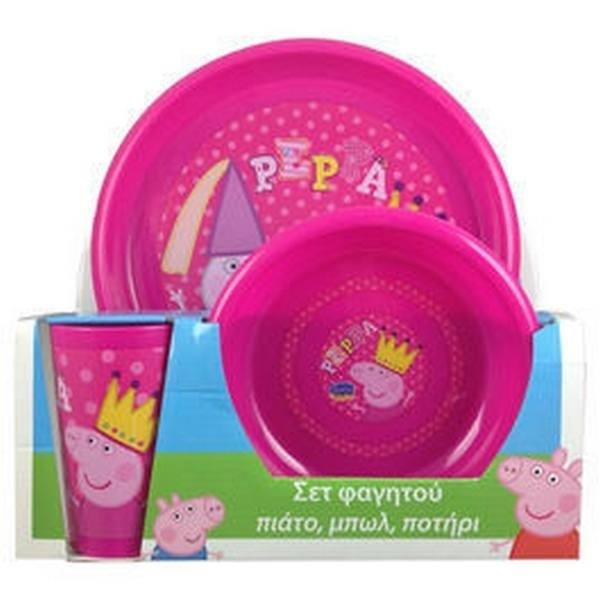 Set tavola Peppa Pig 3 pezzi