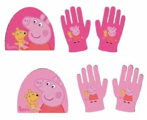 Set berretto e guanti Peppa Pig