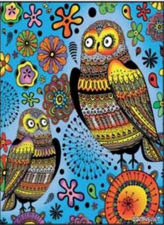 Tavola Colorvelvet Gufi Large