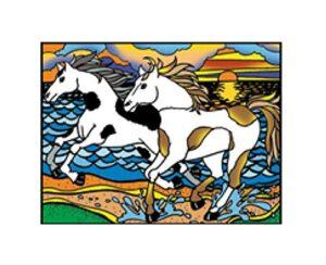 Tavola Colorvelvet Cavalli in Spiaggia Large