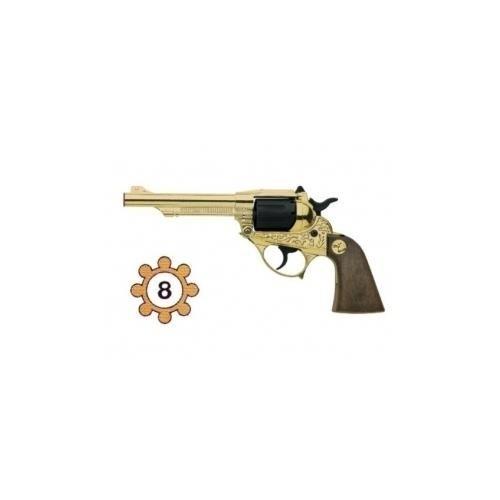 Alabama Pistola in Metallo, 8 Colpi, Plastica, Nero