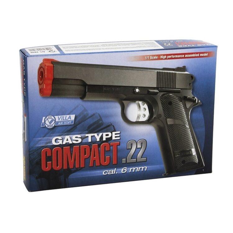 COMPACT .22 GAS - Pistola ad aria compressa