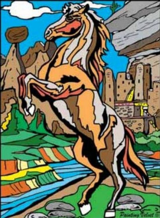 Tavola Colorvelvet Cavallo Large