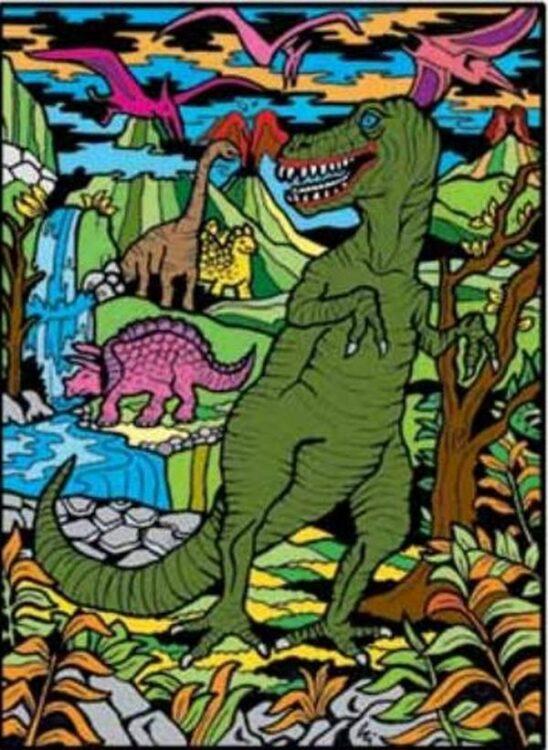 Tavola Colorvelvet Dinosauri Large