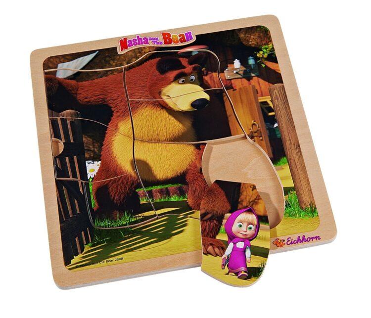 Masha e Orso puzzle 8 pz in legno