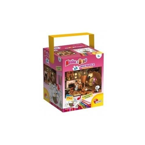 Masha e Orso In The House Puzzle con Color Fustino Maxi, 48 Pezzi