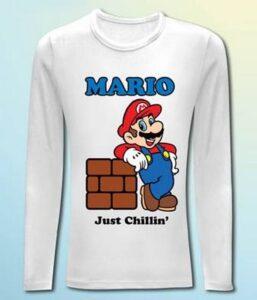 Maglia manica lunga Super Mario Bros